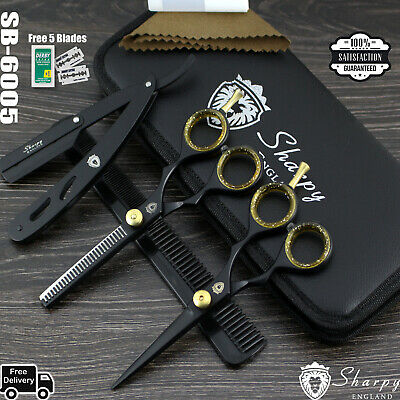 Professional Hairdressing Thinning Barber Scissors Set 5.5 Inch Sharpy England®