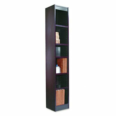 Alera 12-Inch Narrow Profile Veneer Bookcase