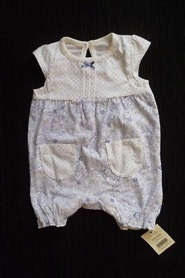 Baby clothes GIRL newborn 0-1m<9lbs/4.1k NEW! summer mauve/white romper SEE SHOP