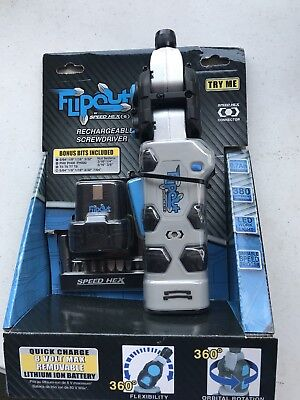 SpeedHex FlipOut 2 Rechargeable Power Driver with Removable Battery and B... New