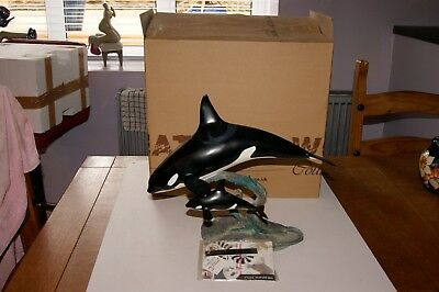Country Artists Natural World Large Killer Whale And Calf 03806 Boxed