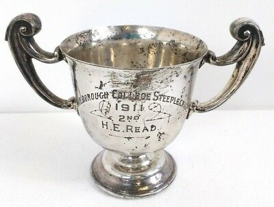 Marlborough College Steeplechase 1911 William Hutton & Sons Silver Plated Trophy