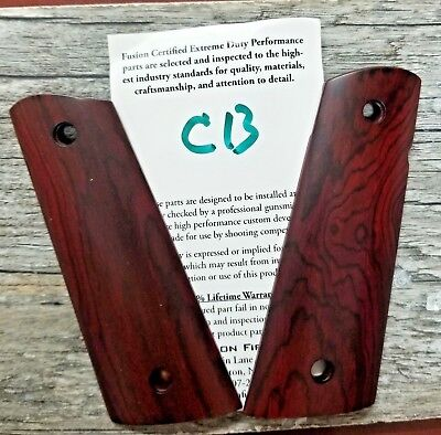 1911 GRIP FULL Size Red Cocobolo Mag-Well Smooth Ambi Cut - $44 95