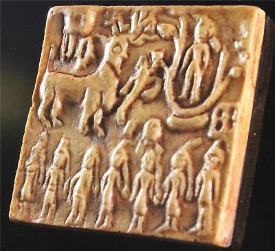 SHIVA & GODDESSES Mounted Indus Valley Seal Tablet 2800 BC museum replica