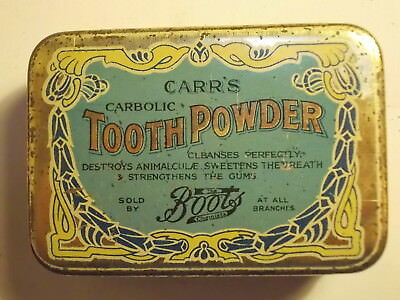 Old Chemist Carbolic TOOTH POWDER Tin. G/VG