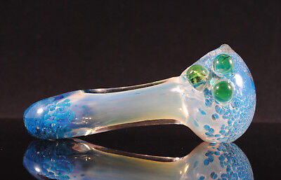 Collectible Blue TOBACCO Smoking Pipe Herb bowl Glass Hand Pipes