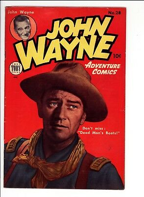 John Wayne Adventure Comics #28  Very Good/fine (5.0)   Large Scans  Photo Cover