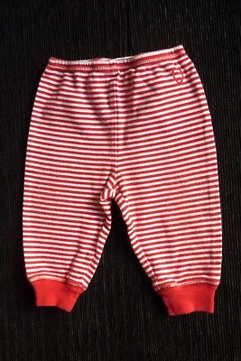 Baby clothes GIRL BOY 9-12m GAP 34cm red/white stripe soft trousers SEE SHOP!