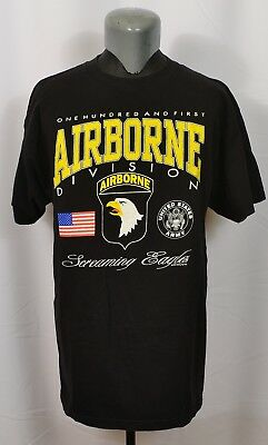 VTG 90's 101st Airborne Division T-Shirt Screaming Eagles U.S. Army 1992 XL USA