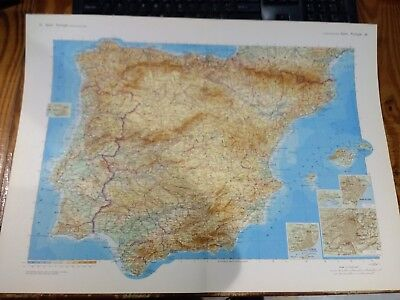 1968 Map Of Spain and Portugal - Big Map by Istituto Geografico De Agos