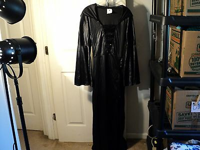 Women's Costume Witch Hooded Long Sequin Black OSFM One Size Spirit (bx#O)