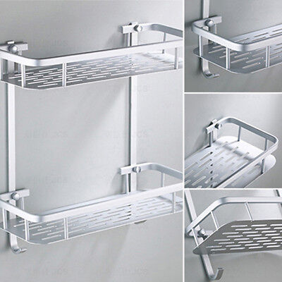 Aluminum Wall Mounted Home Bathroom Shower Shelf Holder Storage G