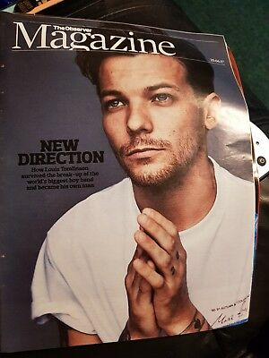 Louis Tomlinson The Observer Magazine Cover - brand new condition