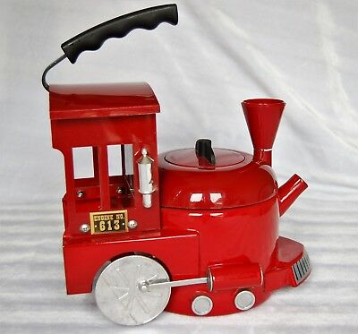 "Kamenstein ""VINTAGE"" - World of Motion RED Train Engine Tea Kettle  COLLECTIBLE!"