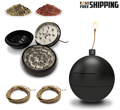 Toke Bomb Hemp Wick Dispenser 3 Piece Grinder Magnetic Herb Tobacco