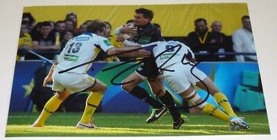 Toby Flood Leicester Tigers Rugby Hand Signed Autograph Photo