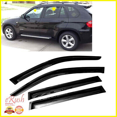 Out Channel Visors Wind Deflector Light Tint For BMW X3 03-10 4pcs
