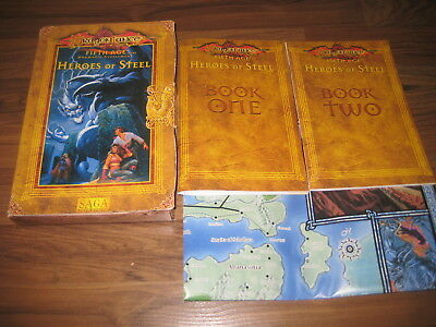 AD&D 2nd Edition Dragonlance Fifth age Heroes Of Steel Boxed Set TSR 1996