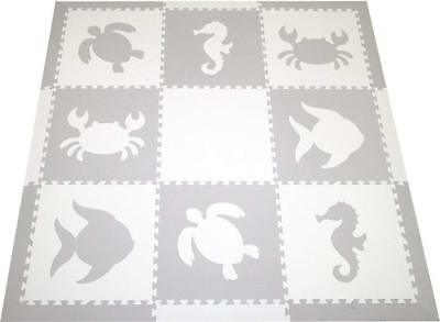 SoftTiles Sea Animals Interlocking Foam Play Mat with Sloped Borders. Soft for x