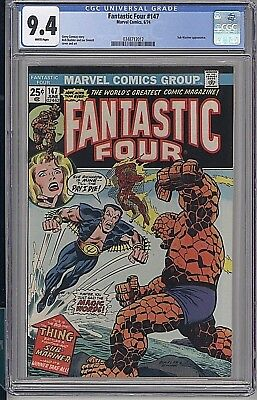 Fantastic Four #147 1974 Sub-Mariner Marvel High Grade Cgc 9.4 White Pages