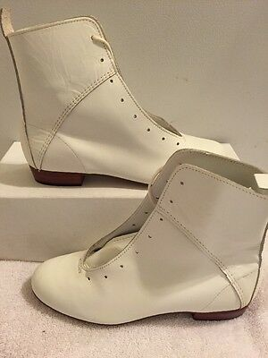 High Country, Size 5.5M WOMENS Clogging Tap Dance boots, Shoes, (no Taps) WHITE