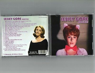 Lesley Gore Rarities-New Import Cd-Super Rare Crewe Singles + Much More-Sealed C