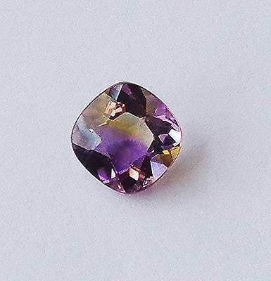 NICE 3.30ct Ametrine Antique Cushion Cut Yellow Orange Red Purple Untreated