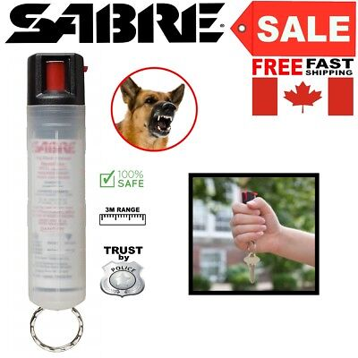 Safe Dog Red Pepper Spray Max Strength Clear Case Self Defense Security 3m Range