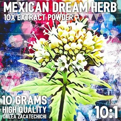 Mexican Dream Herb| (Calea zacatechichi) 10x Extract Powder [10 Grams]
