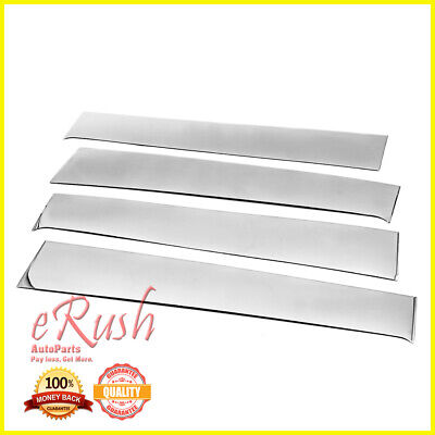For 2003-2017 Ford Expedition 4pcs Stainless FLAT Window Sill Trim No Keypad