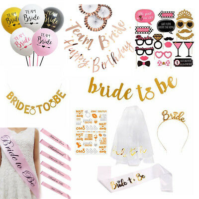 Team Bride To Be Sash Banner Hen Night Out Bachelorette Party Decoration Supplie