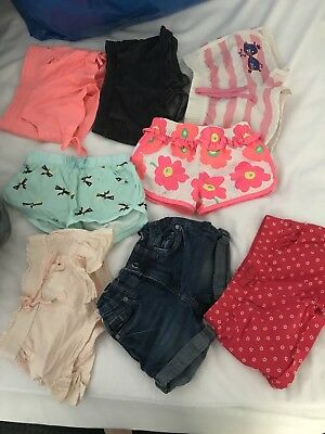 Girls Size 1 & 2 Bulk Shorts Bundle