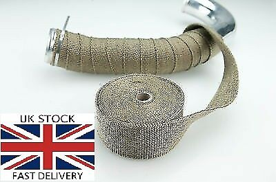 TriX Titanium basalt heat wrap 10Mx5CM High Temp Exhaust Manifold car motorbike