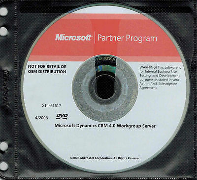 Microsoft Dynamics CRM 4.0 Workgroup Server