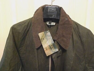 Barbour- A117 Gamefair Unlined Wax Cotton Jacket -New Old Stock- Made @ Uk- 44