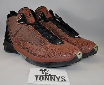 16965523e4c Air Jordan 22 XXII Basketball Leather Size 13 NEW DS 316238-002 Brown-Black