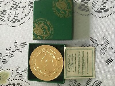 1kg paperweight gold coin