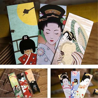 30Pcs Vintage Book Marks Japanese Style Cute Paper Bookmark For Kid Supplies Set