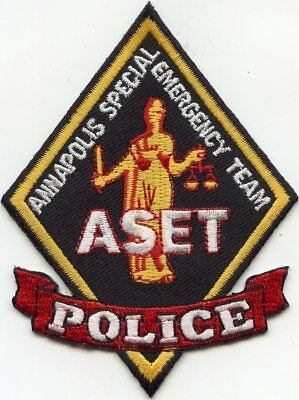 ANNAPOLIS MARYLAND MD Special Emergency Team SWAT POLICE PATCH