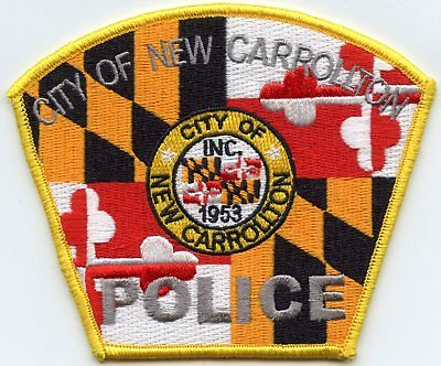NEW CARROLLTON MARYLAND MD colorful POLICE PATCH