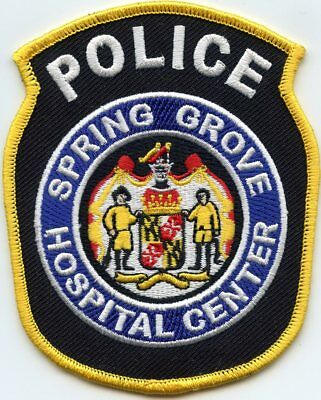 SPRING GROVE Baltimore MARYLAND MD PSYCHIATRIC HOSPITAL POLICE PATCH
