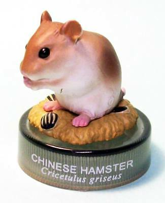 Kaiyodo Bottle Cap Figure Hamster's Hokka Lunch Chinese hamster US seller