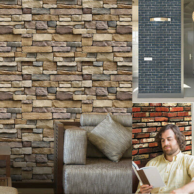 3D Brick Stone Self Adhesive Wall Sticker Wallpaper Decal Home Decor Removable