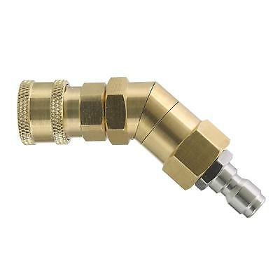 Tool Daily Quick Connecting Pivoting Coupler for Pressure Washer Nozzle, Hard to