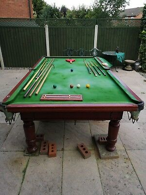 Snooker tables snooker pool sporting goods picclick uk snooker table slate bed 10ft x 5ft with accessories greentooth Image collections
