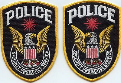 CIA SECURITY PROTECTIVE SERVICE Mirror Image Set 2 POLICE PATCHES POLICE PATCH