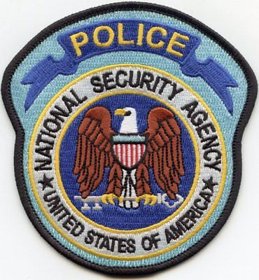 National Security Agency Nsa Washington Dc Police Patch