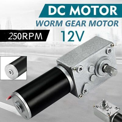 12V DC Motor High Torque Electric Power Turbo Reducer Worm Geared Reversible NEW