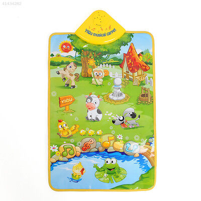 E670 HOT Musical Singing Farm Kid Child Playing Play Mat Carpet Playmat Touch