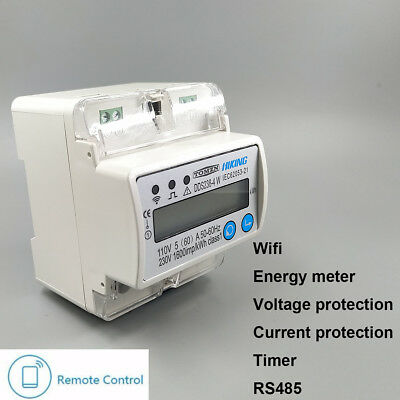 5(60)A 110V 230V 50HZ 60HZ Single phase Din rail WIFI smart energy meter